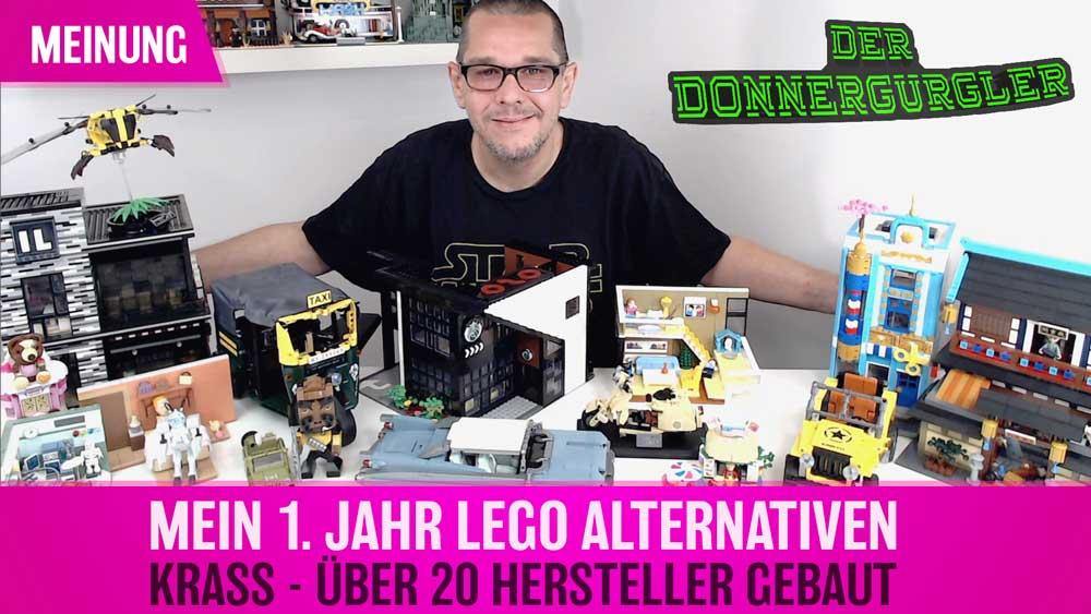 Mein 1. Jahr in der Welt der Lego® Alternativen. Krass, über 20 Alternative Hersteller gebaut.