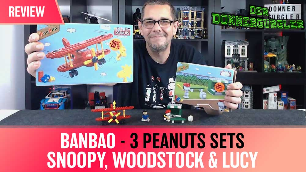 BanBao - 3 Peanuts Sets Snoopy, Woodstock und Lucy