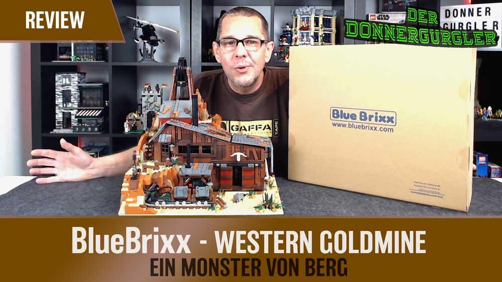 BlueBrixx Western Goldmine - Ein Monster von Berg!