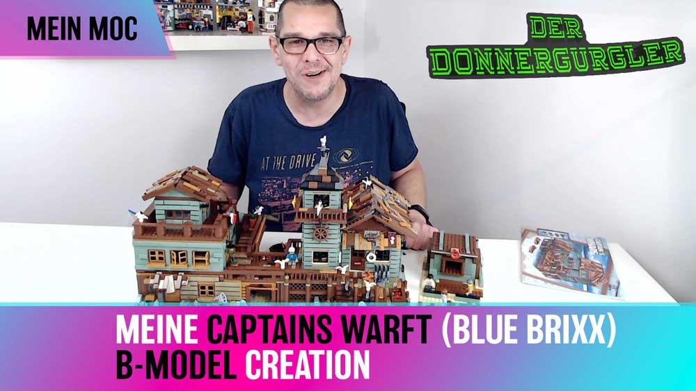 Mein B-Model MOC des Blue Brixx-Pro Set Captain's Wharf (103059)