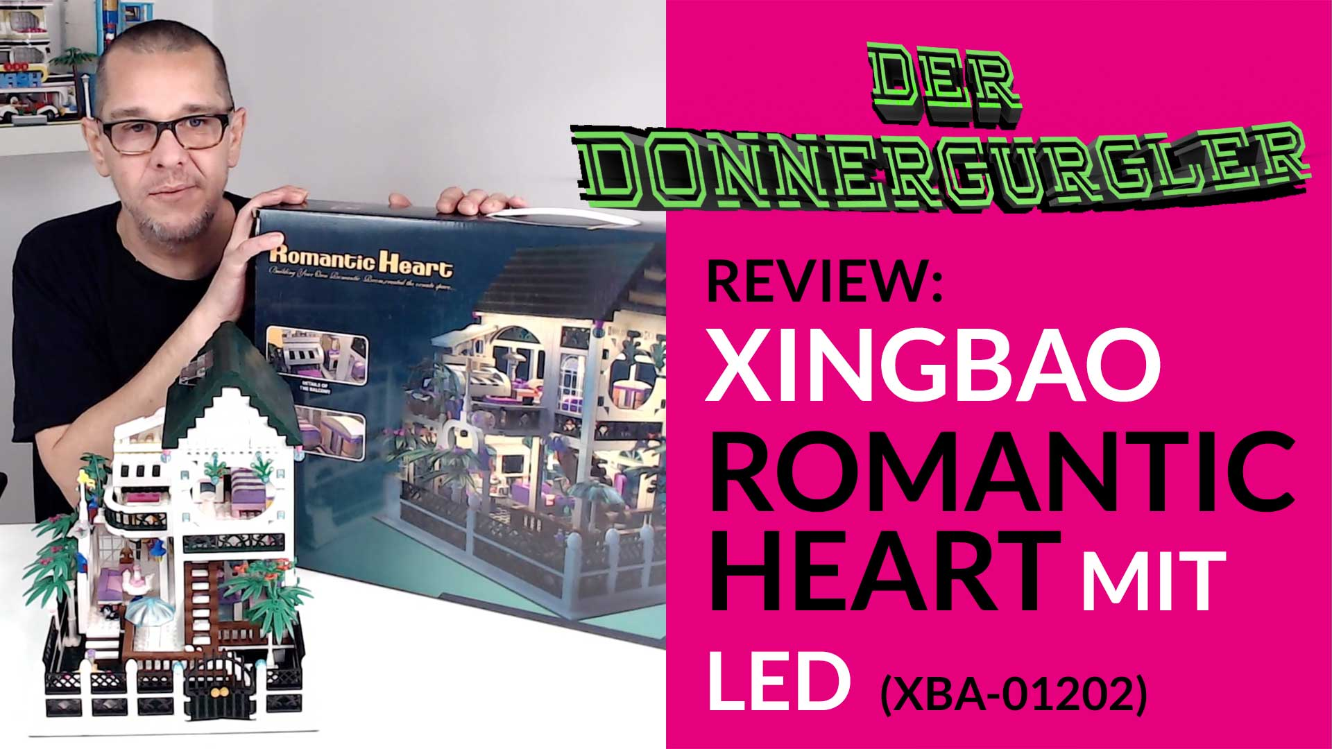 Xingabao Romantic Heart mit LED - Kitsch Romantik trieft aus allen Bricks