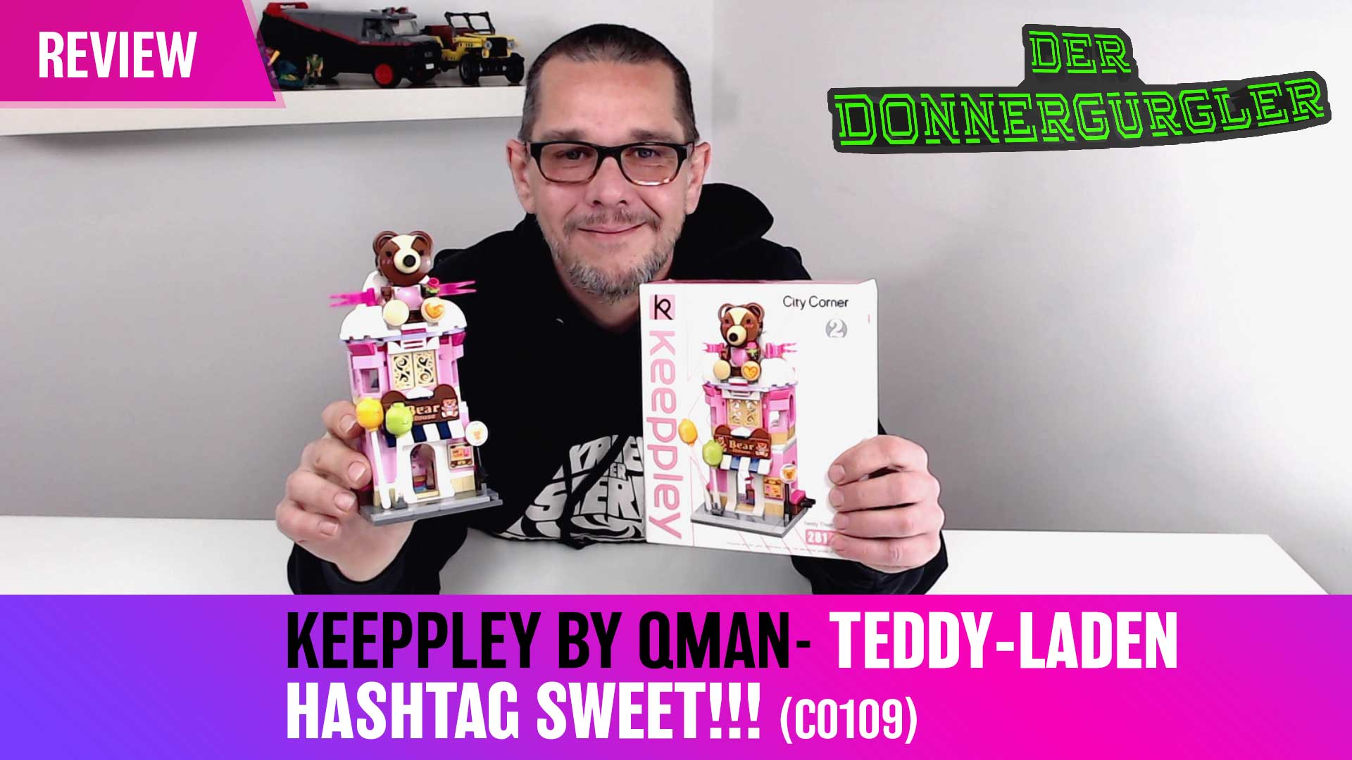 Keeppley by Qman - City Corner 2 - Der Teddy-Laden oder hashtag >SWEET<