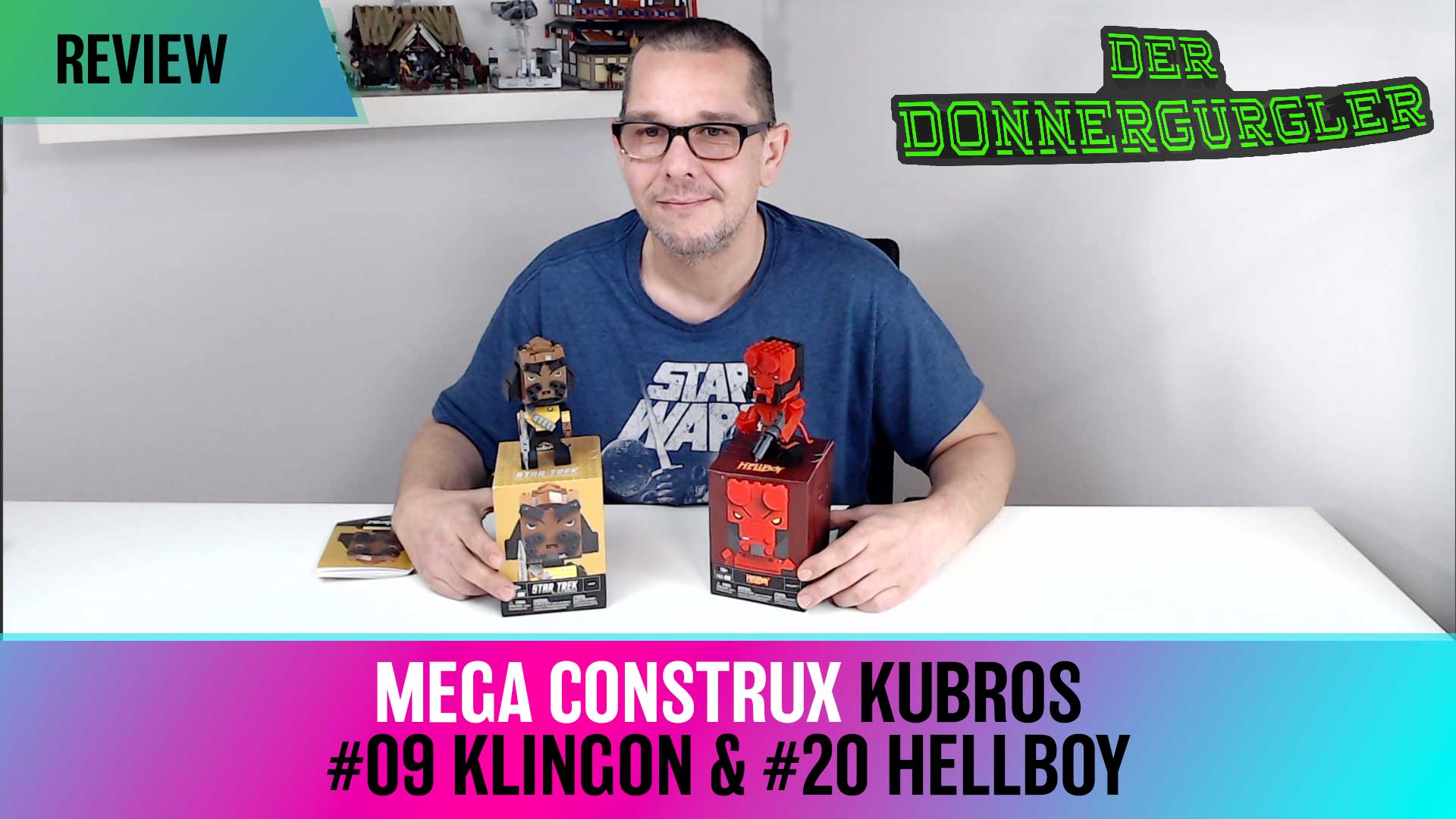 Kubros Figur #09 Star Trek Klingon & #20 Hellboy von Mega Construx