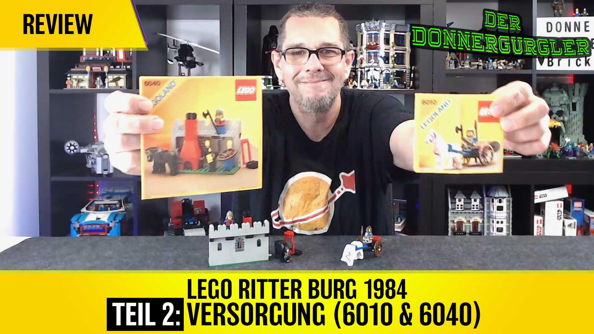 Lego Ritter Burg 1984 Teil 2: Versorgung (6010 & 6040)