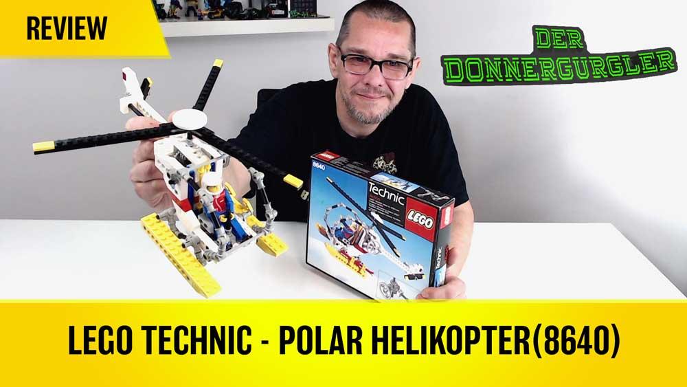 Lego Technic 8640 Arktis-Helikopter von 1986. Ein Hubschraubäääär