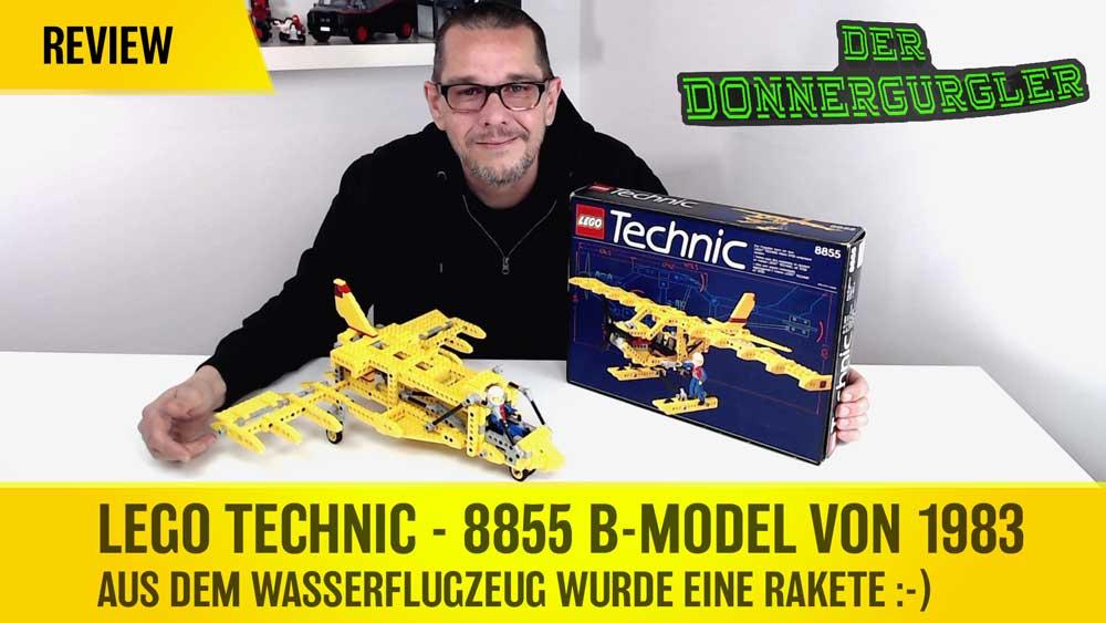 Lego Technic - 8855 B-Model von 1983 - Aus dem Wasserflugzeug wurde eine Rakete :-)