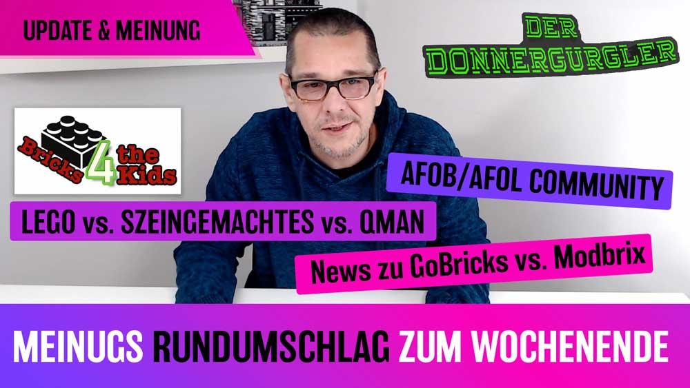 Meinung Rundumschlag zum Wochenende: Lego vs. Steingemachtes vs Qman - Community & News zur GoBricks / Modbrix Cause