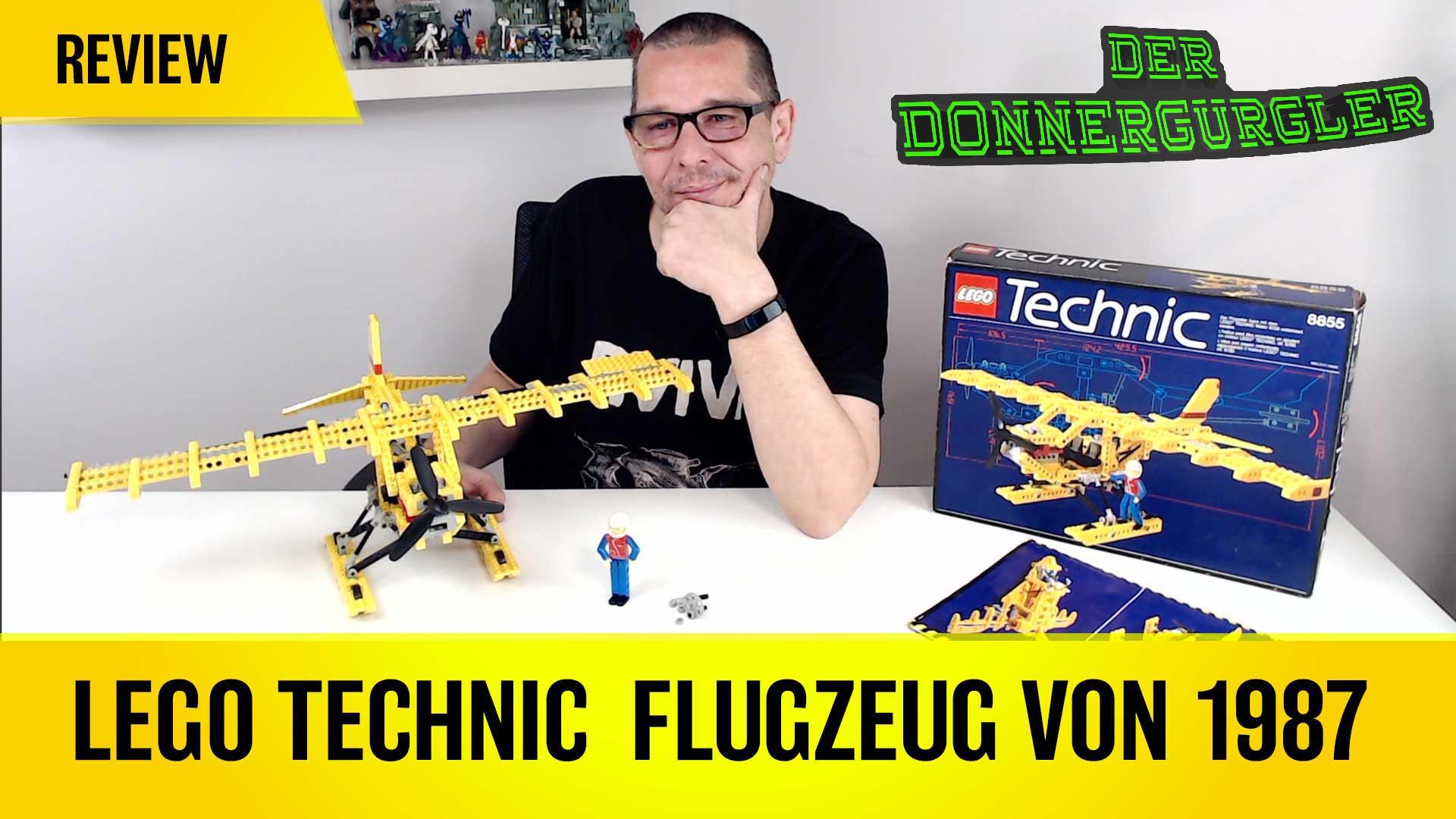 Kindheitserinnerungen mit dem gelben Lego Technic Flugzeug (Prop Plane 8855) von 1988