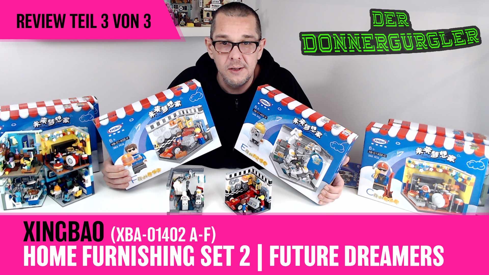 Xingbao Home Furnishing Set 2 - Future Dreamers Kompletset XBA-01402A-F Teil 3v3
