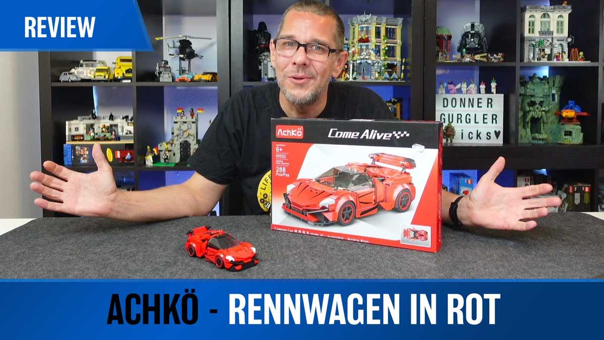 Achkö - Rennwagen in rot aus der Come Alive Serie