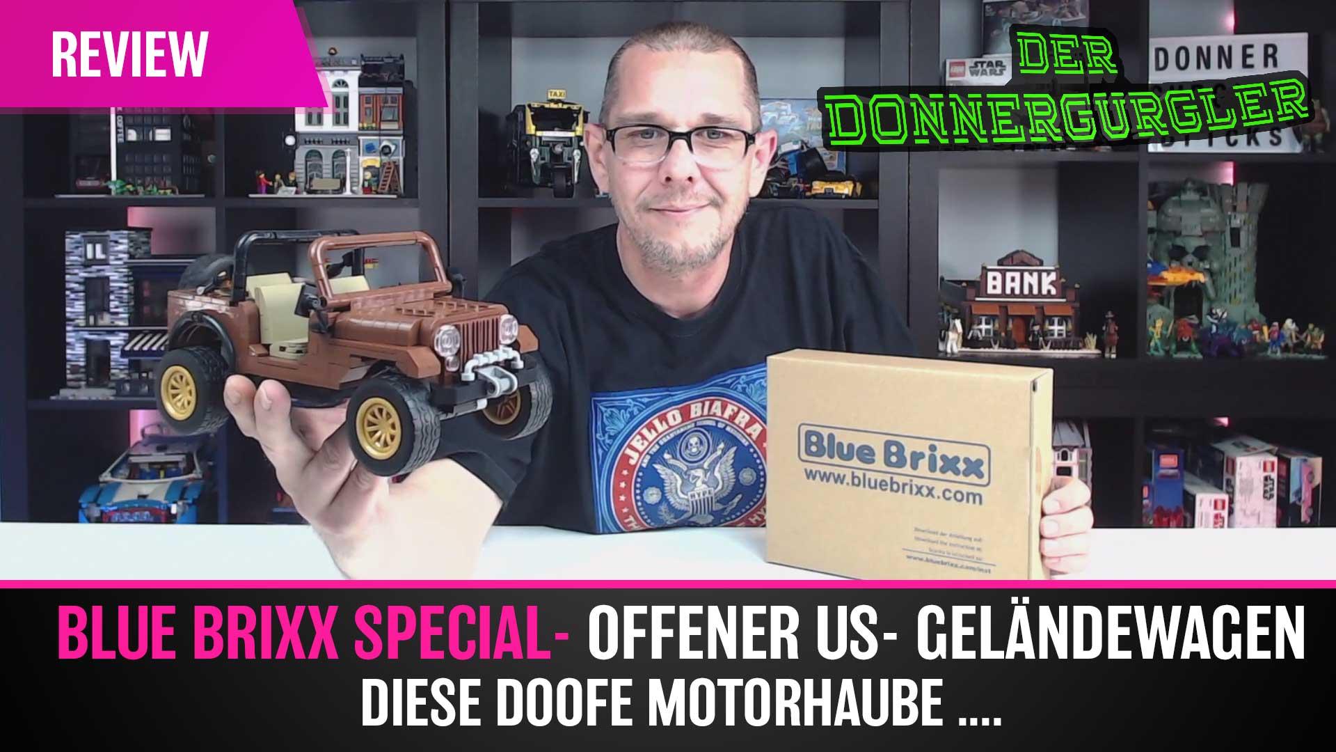 Bluebrixx Special - Offener US Geländewagen - grrr diese Motorhaube ...