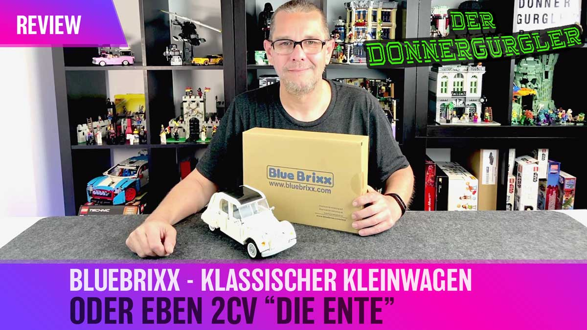 Bluebrixx Special Klassischer Kleinwagen alias Die Enter oder 2CV