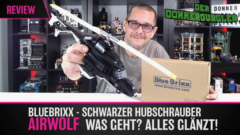 BlueBrixx - Schwarzer Hubschrauber AIRWOLF Was geht? alles glänzt!
