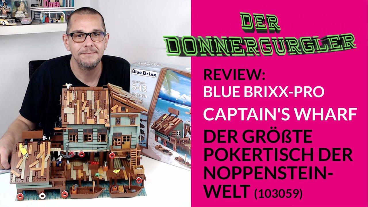 Blue Brixx-Pro Captain's Wharf - Der Größte Pokertisch der Noppensteinwelt (103059)