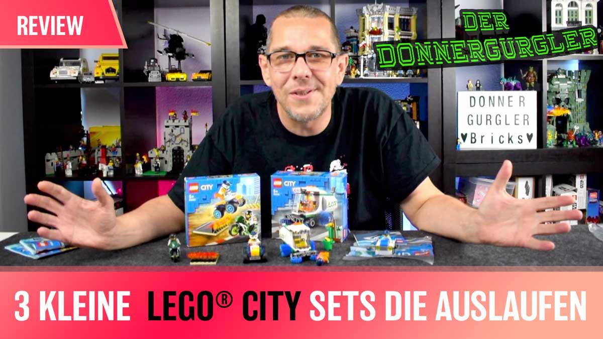 Drei kleine LEGO City Happen die vom Markt gehen