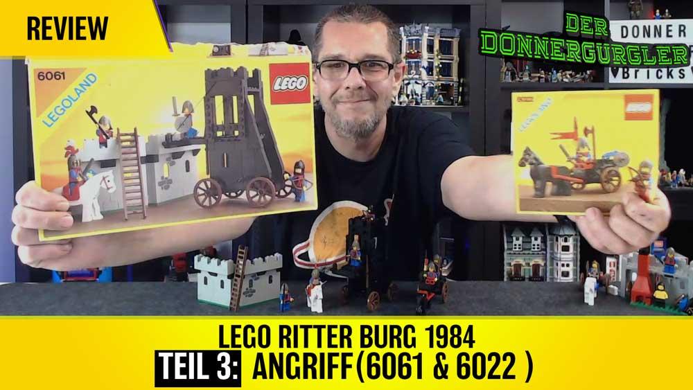Lego Ritter Burg 1984 Teil 3: Angriff (6021 & 6061)