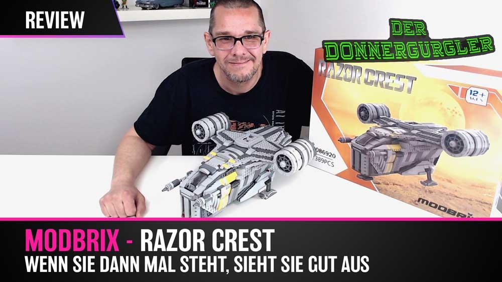 Modbrix Razor Crest - Plate für Plate zum Mandalorian Raumschiff - This is the Way!