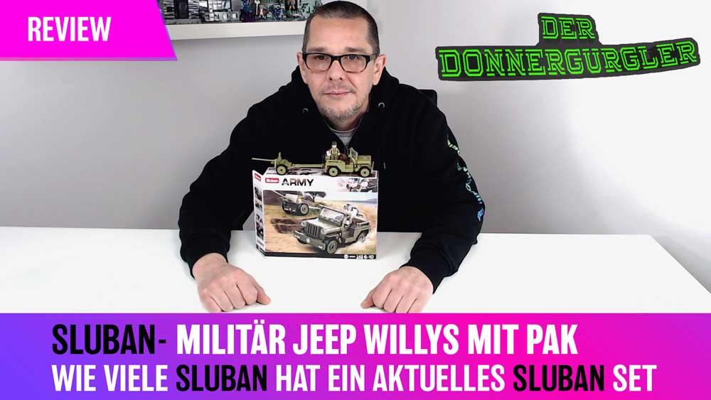 Wieviele Sluban hat ein aktuelles Sluban Army Set - Der Militär Jeep Willys mit PAK (M38-B0853)